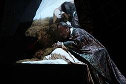 Walter Fraccaro na despedida no leito de Desdêmona