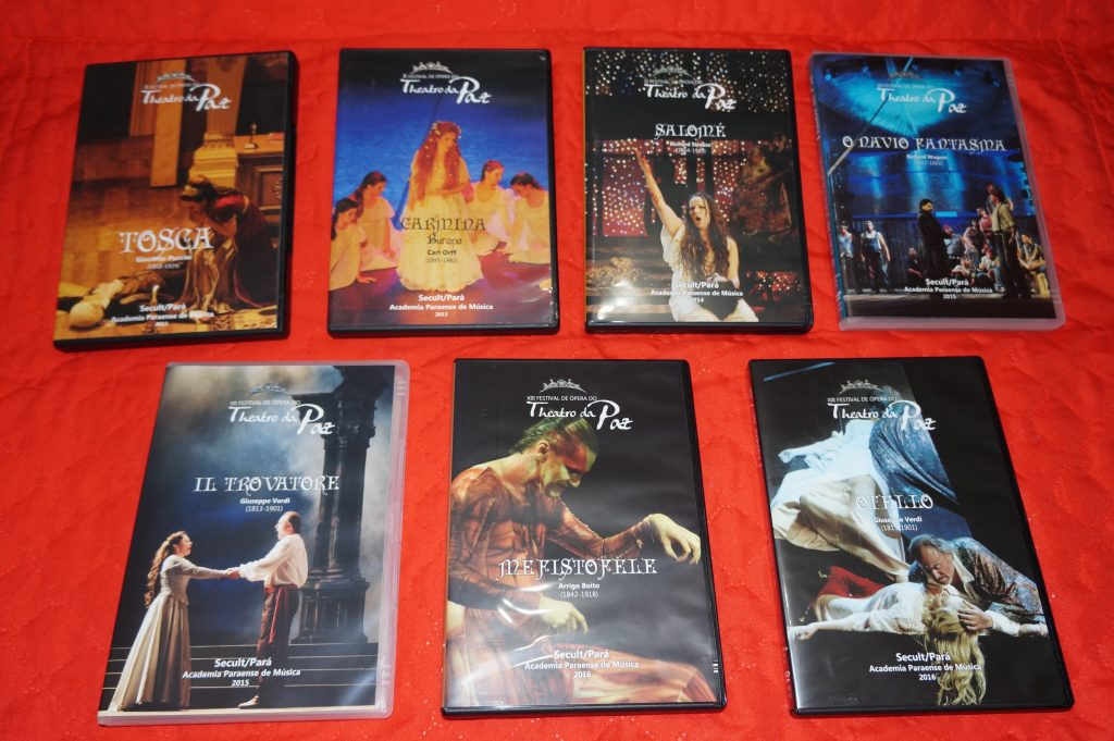 Alguns dos tA�tulos do Theatro da Paz em DVD